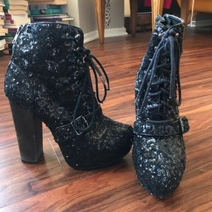 Steve Madden Lita in Black Sequins
